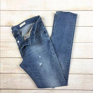 All Saints Rex straight skinny distressed jeans 30